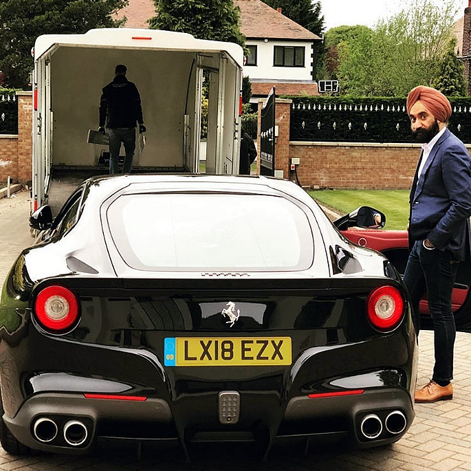 Luxury Cars owned by Reuben Singh - f12 berlinetta