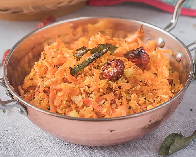 7 Easy Indian Carrot Recipes to Make at Home - carrot fry south