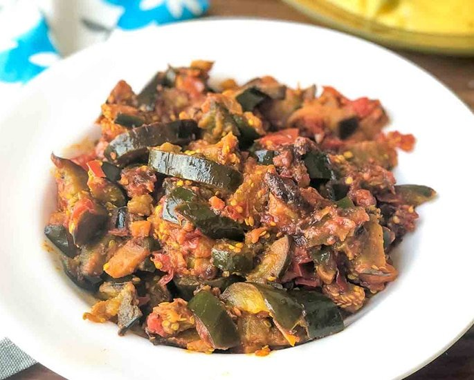 7 Indian Aubergine Recipes to Make and Enjoy - tomato masala