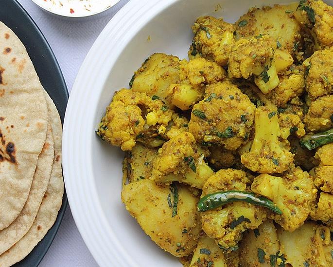 7 Indian Cauliflower Recipes to Make and Enjoy - aloo gobi