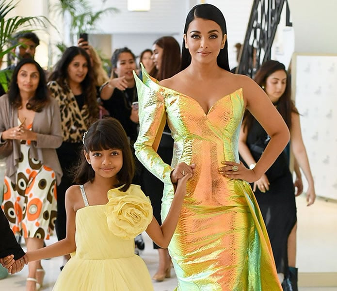 Aishwarya Rai Bachchan dazzles in Gold at Cannes 2019 - daughter