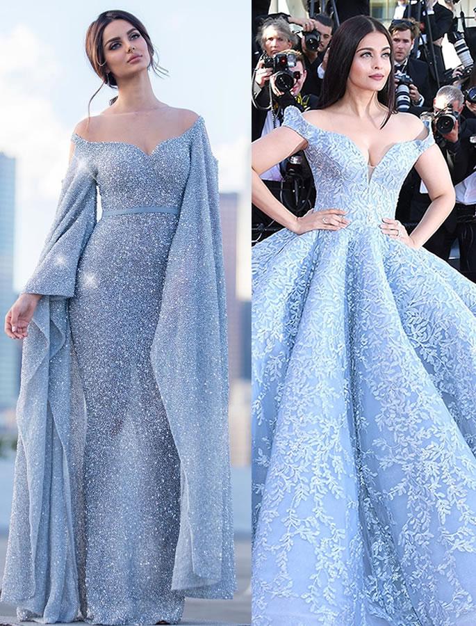 Aishwarya Rai has a Look Alike who's an Iranian Model - blue dress