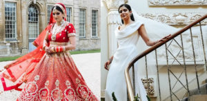Bride wears Lehenga and Vivienne Westwood at Wedding f
