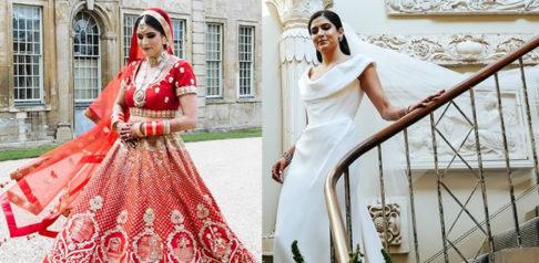 Bride wears Lehenga and Vivienne Westwood at Wedding f