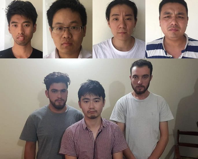 Chinese Gang arrested for luring Pakistani Girls into Prostitution - gang members