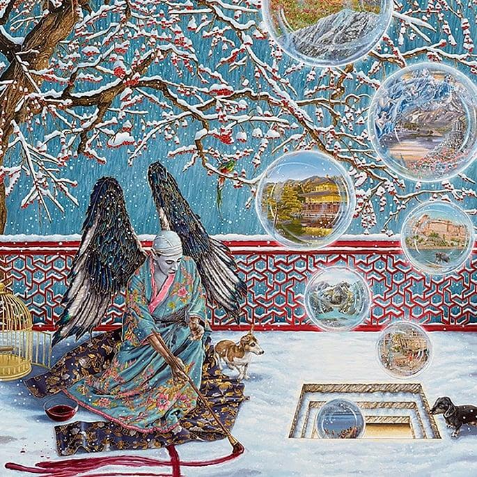 How Artist Raqib Shaw is Representing Kashmir in his Paintings - allegory
