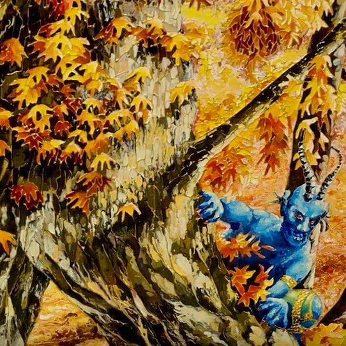How Artist Raqib Shaw is Representing Kashmir in his Paintings - autumn