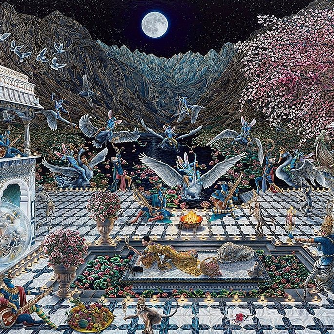 How Artist Raqib Shaw is Representing Kashmir in his Paintings - ode