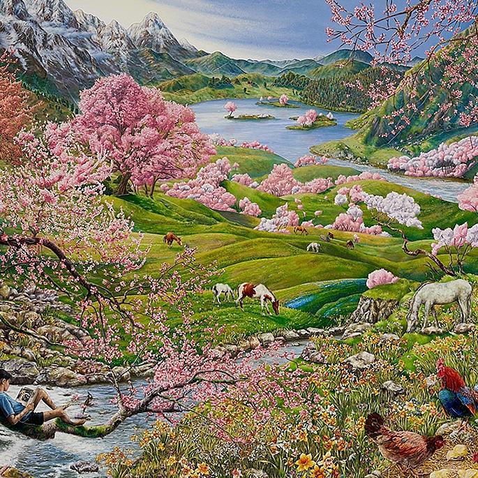 How Artist Raqib Shaw is Representing Kashmir in his Paintings - spring