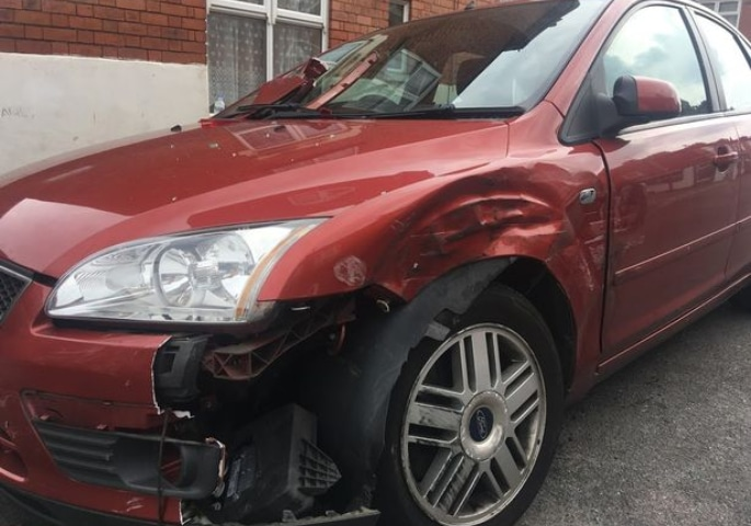 Man wakes up to Find Car Crashed on Top of His Mercedes