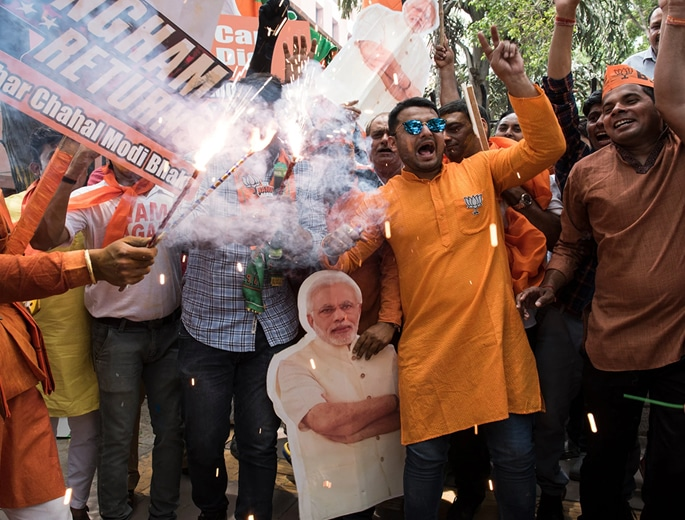 Modi declares Thumping Victory for BJP in India Elections 2
