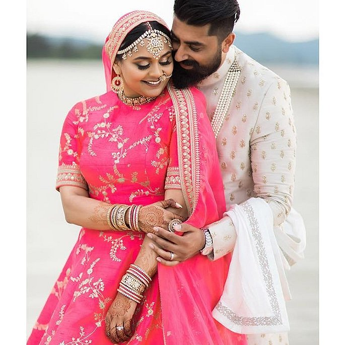 Sabyasachi Bride wears the Most Spectacular Pink Lehenga 3