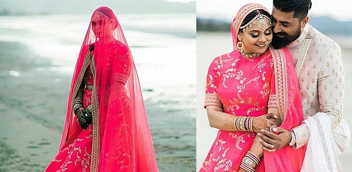Sabyasachi Bride wears the Most Spectacular Pink Lehenga f