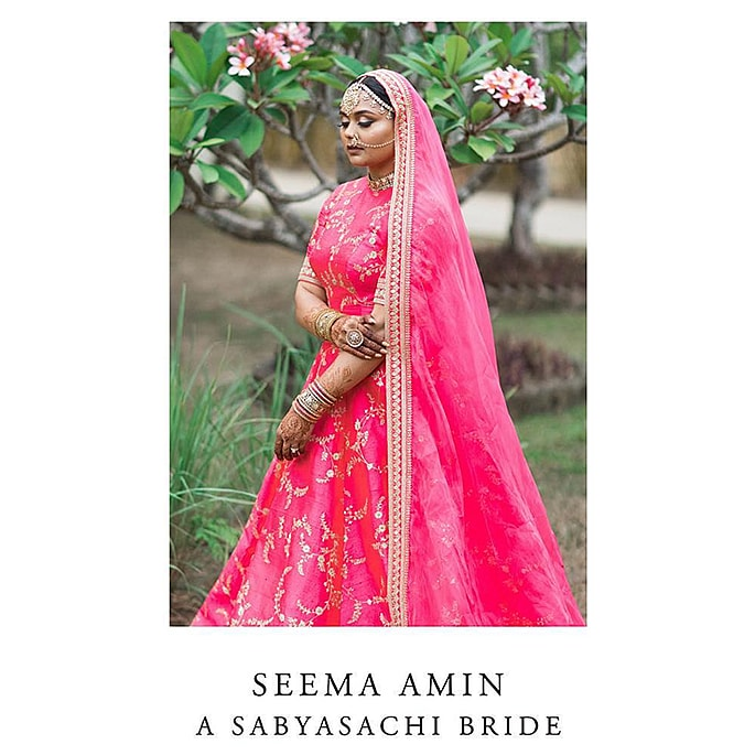 Sabyasachi Bride wears the Most Spectacular Pink Lehenga