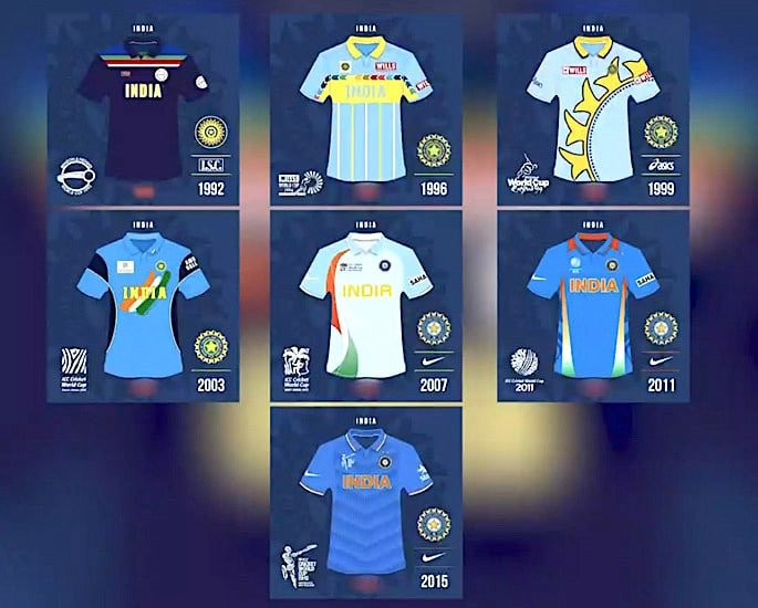 Team India Cricket World Cup Kit Evolution - IA 1