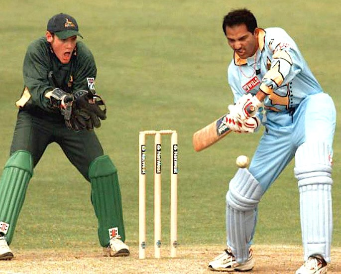 Team India Cricket World Cup Kit Evolution - Mohammad Azharuddin