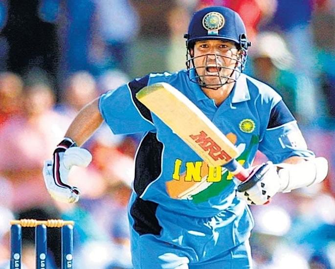 टीम इंडिया क्रिकेट विश्व कप किट विकास - सचिन तेंदुलकर