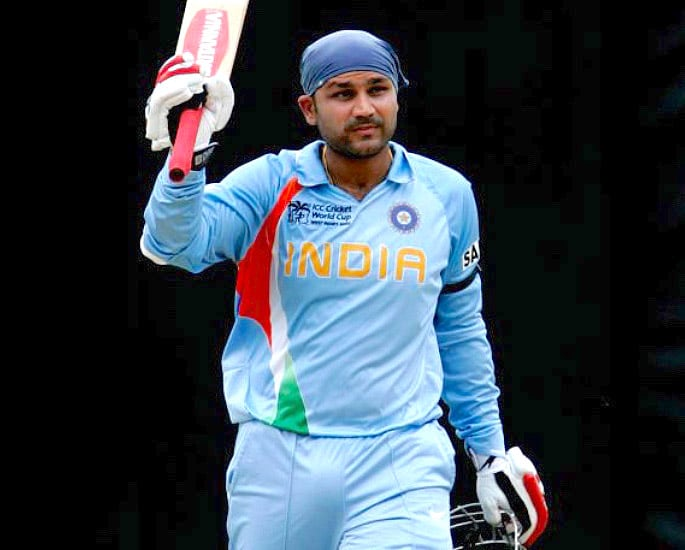 Team India Cricket World Cup Kit Evolution - Virender Sehwag