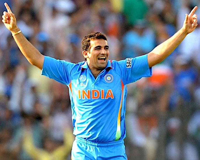 Team India Cricket World Cup Kit Evolution - Zaheer Khan