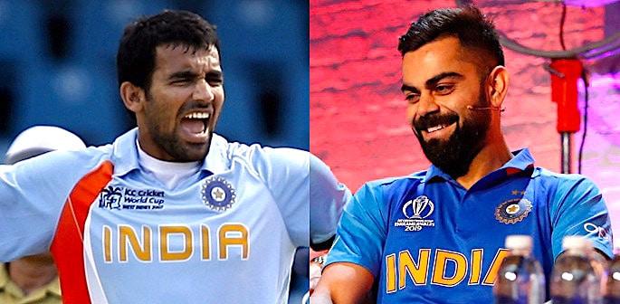 Team India Cricket World Cup Kit Evolution f