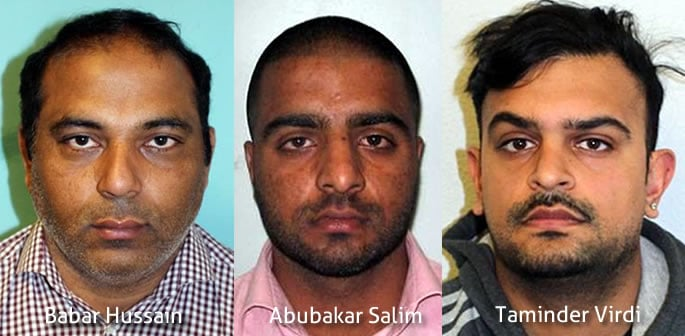 Three Men jailed for £390k Fraud from a London Bank ft