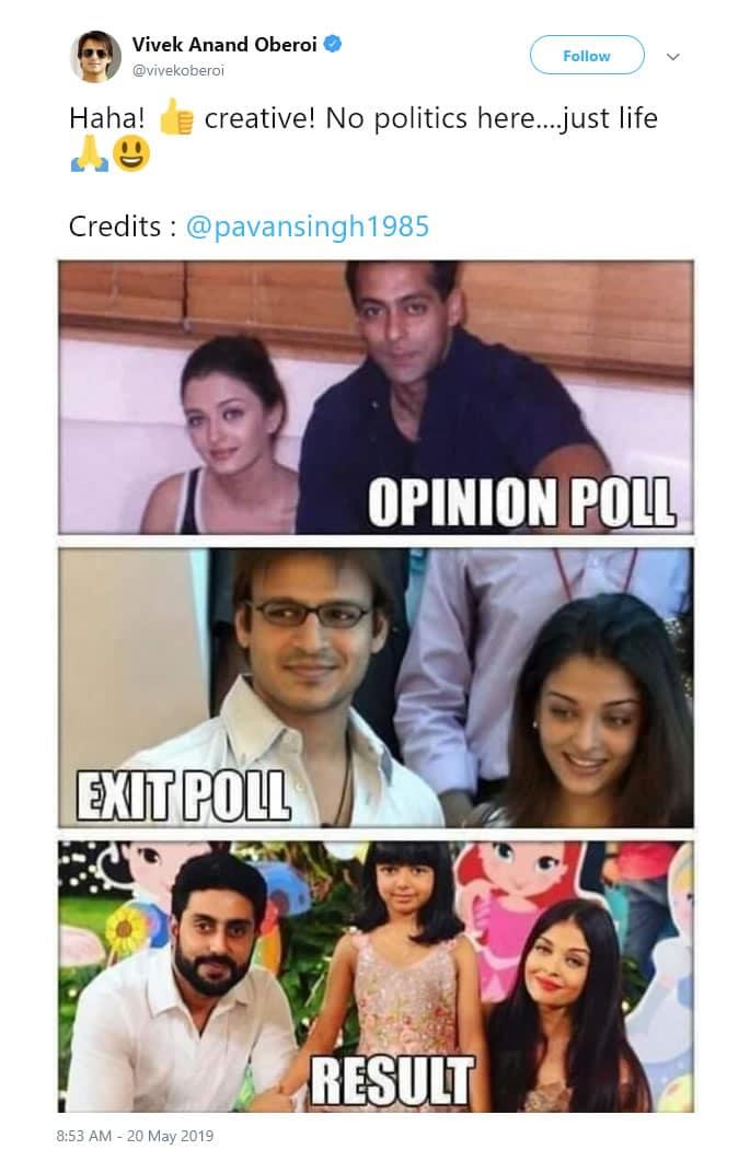Vivek Oberoi badly Trolled for Aishwarya Rai Bachchan Tweet - tweeted