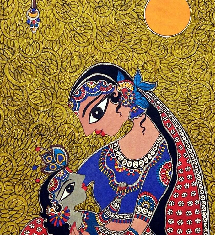7 Types of Indian Paintings defining Culture - madhubani 2