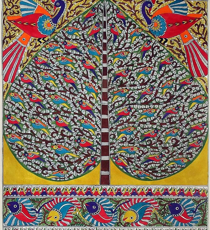 7 Types of Indian Paintings defining Culture - madhubani