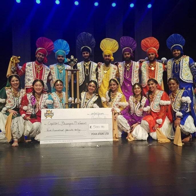Bhangra dancing dance comp
