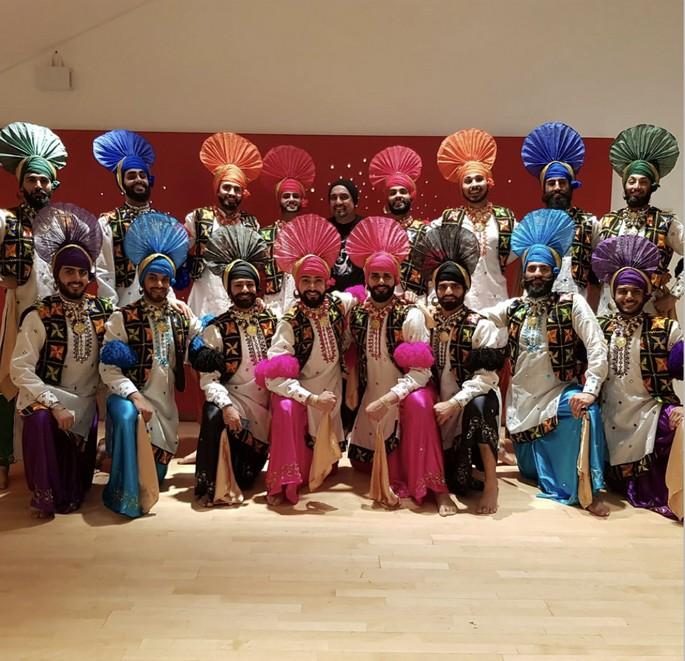 Bhangra dancing dance