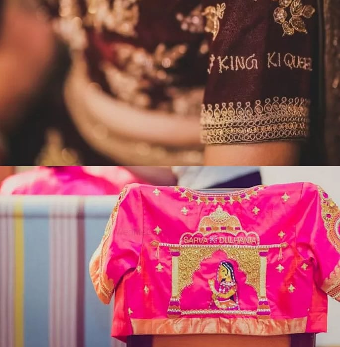 Personalising lehenga - blouse