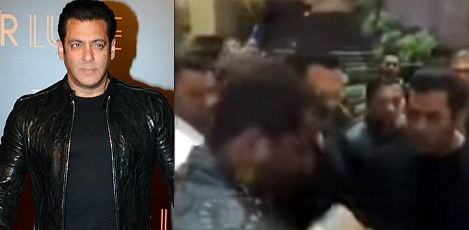 Salman Khan slapping Security Guard Video goes Viral f