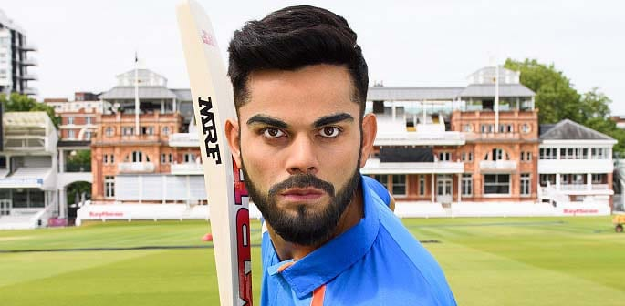 Virat Kohli Comes to the Crease at Madame Tussauds London f