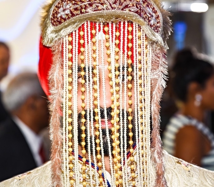 8 Sehra Designs Perfect for a Groom's Turban - Beaded Sehra