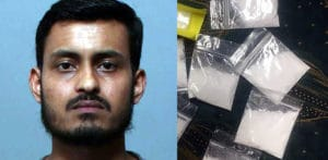 Abhijit Suklabaidya caught with 58 wraps of Heroin and Cocaine f