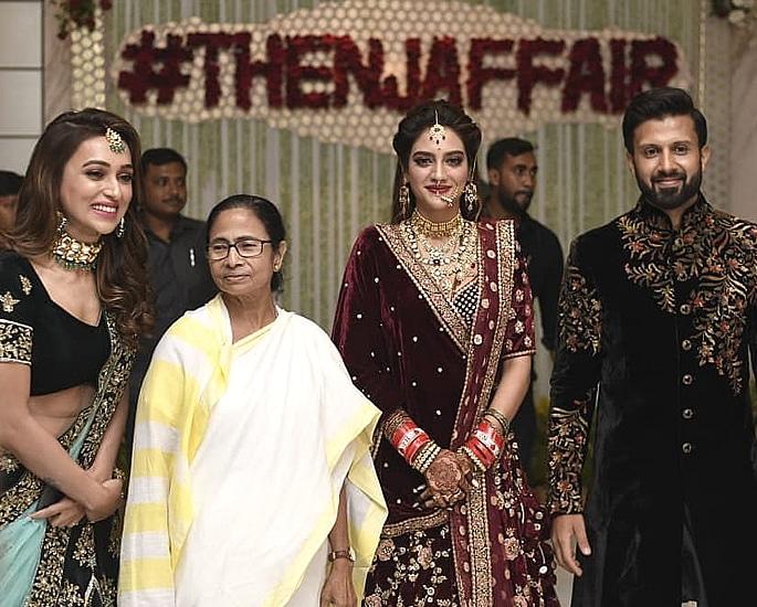 Actress Nusrat Jahan marries Nikhil Jain with Grand Reception 3