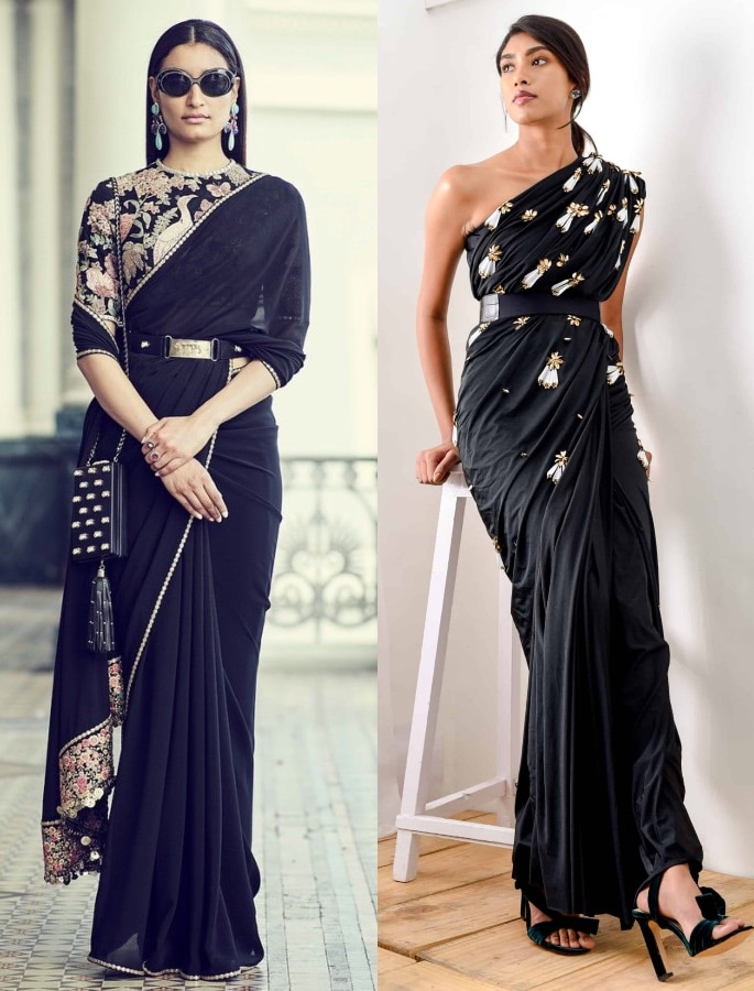 Gorgeous Fashion Saree Trends for 2020 - belted saree