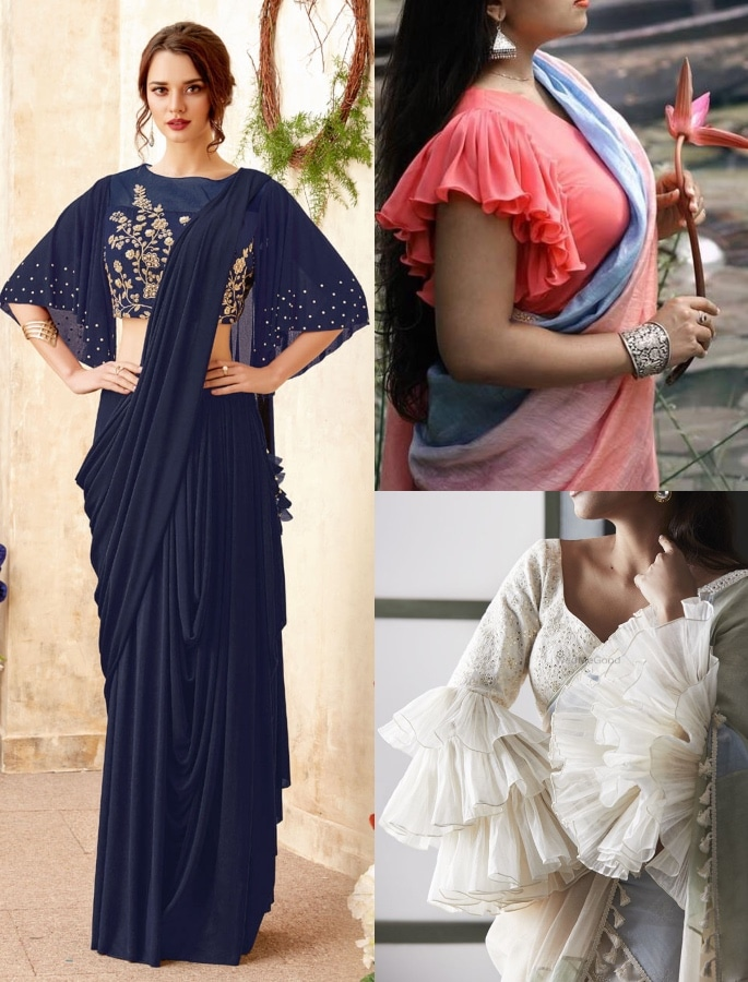 Gorgeous Fashion Saree Trends for 2020 - bouffant sleeve