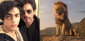 SRK and Son Aryan Khan voice Disney's Lion King f