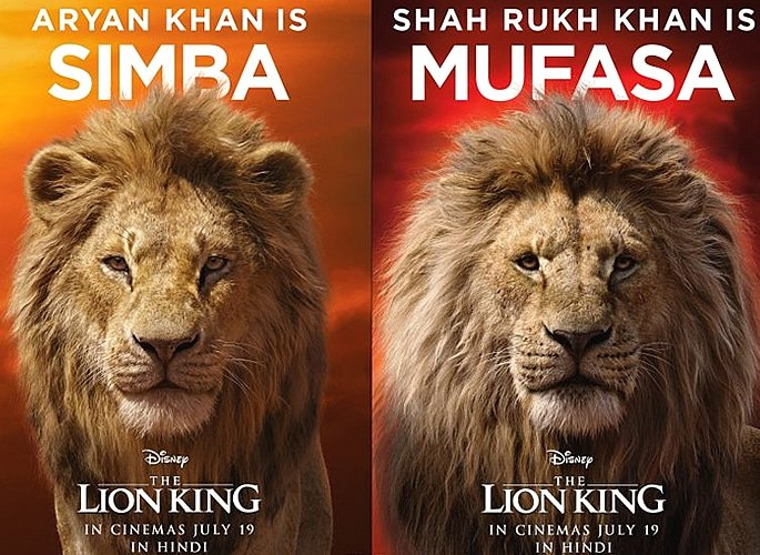 SRK and Son Aryan Khan voice Disney's Lion King