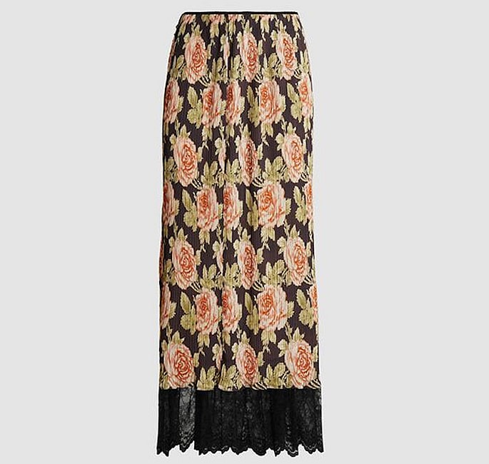7 Modest Skirts for Modern Women - Rose Print Skirt
