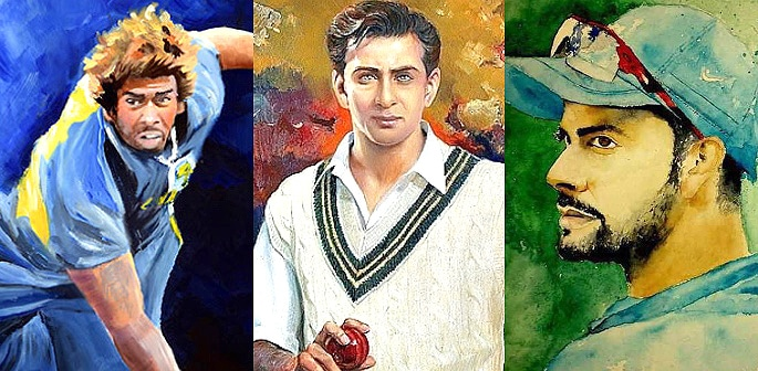 6 Best Paintings of Desi Cricket Players - F