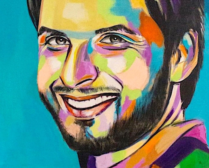 6 Best Paintings of Desi Cricket Players - Shahid Afridi 1