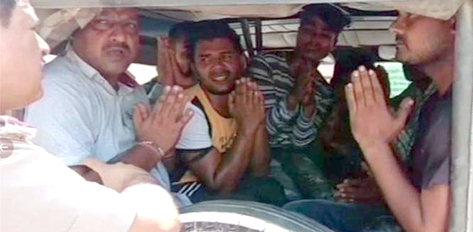 8 Indian Men arrested for Beating Man mistaken as Child Lifter f