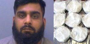 ड्रग डीलर कपड़े में £ 350k हेरोइन आयात करने के लिए जेल गया