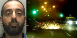 Man flips over Mercedes in Dangerous 90mph Police Chase