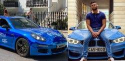 آدمی جس کے پاس k 40 کلو BMW چوری تھی پورش توڑ پھوڑ کا شکار ہے