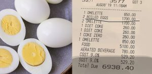 Mumbai Hotel charges Rs 1700 for 2 Boiled Eggs f