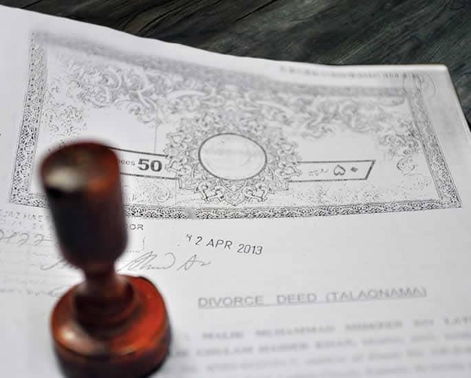 Stigma of Divorce for Pakistani Women - divorce deed