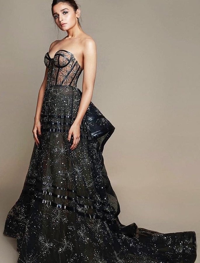 Top 10 Fashion Looks of Alia Bhatt - filmfare gown